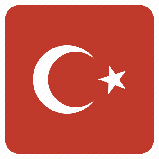 country, flag, national, turkey, turkish icon