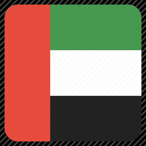 arab, country, emirates, flag, national, uae, united icon