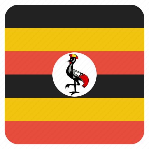 country, flag, national, uganda icon