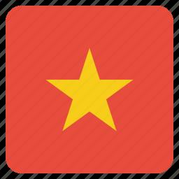 country, flag, national, vietnam, vietnamese icon