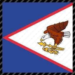 american, country, flag, national, samoa, samoan icon