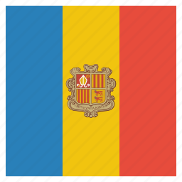 andorra, country, flag, national icon