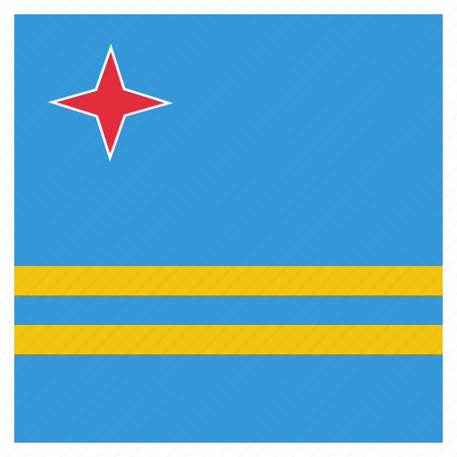 aruba, country, flag, national icon