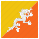 bhutan, bhutanese, country, flag, national icon