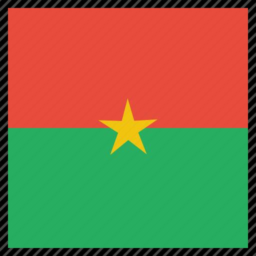 burkina, country, faso, flag, national icon