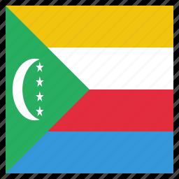 comoros, country, flag, national icon