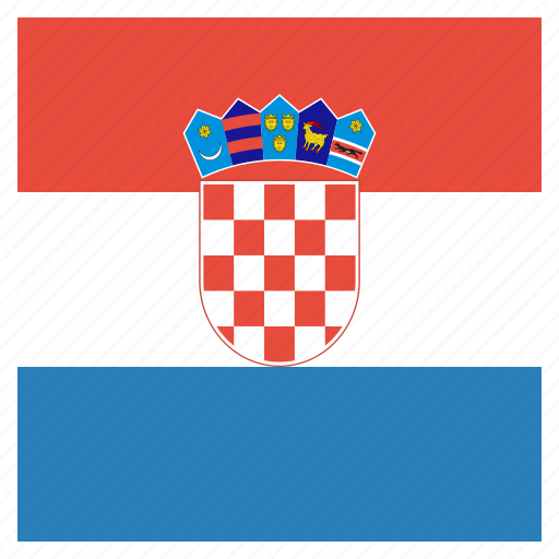country, croatia, croatian, flag, national icon