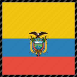 country, ecuador, flag, national icon