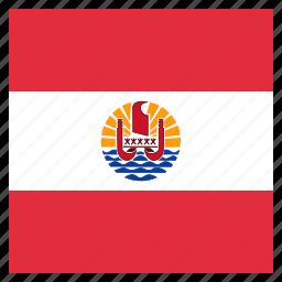 country, flag, french, national, polynesia icon