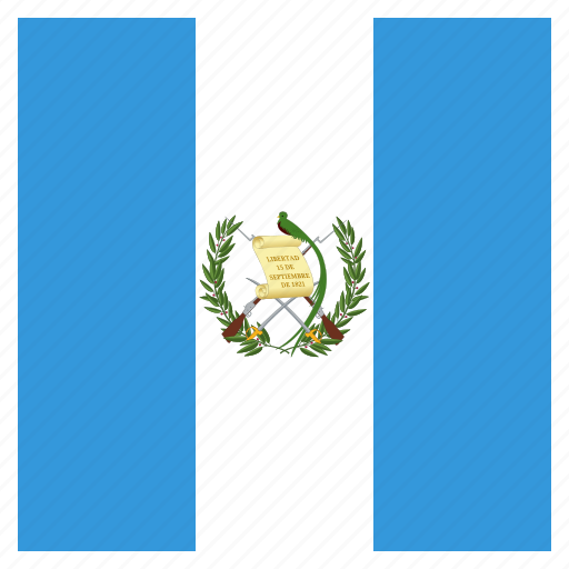 country, flag, guatemala, national icon