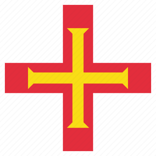 country, flag, guernsey, national icon