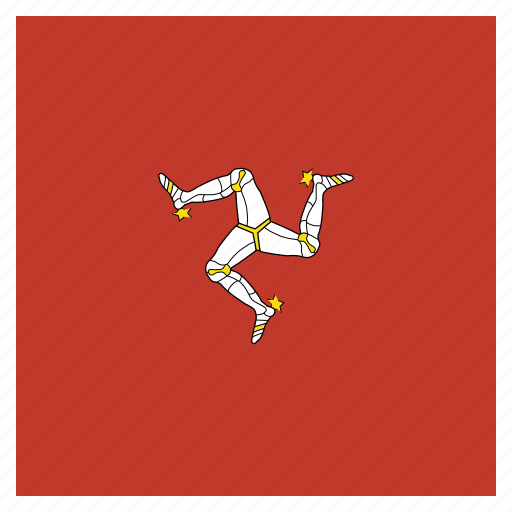 flag, isle, man, of icon
