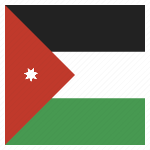 country, flag, jordan, national icon