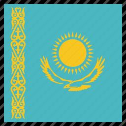 country, flag, kazakhstan, national icon