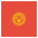 country, flag, kyrgyzstan, national