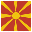 country, flag, macedonia, national icon