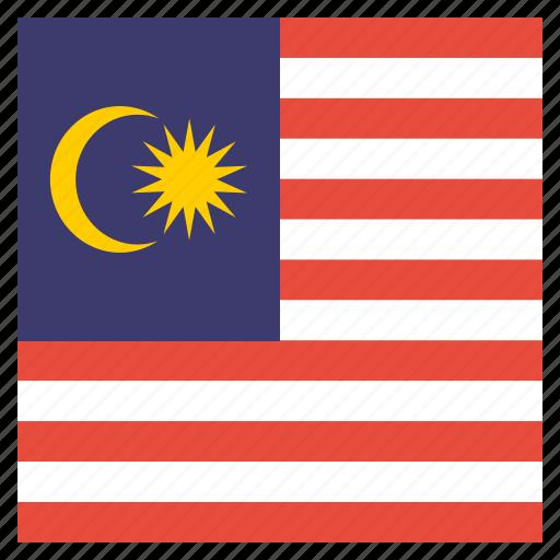 country, flag, malaysia, malaysian, national icon