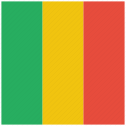 country, flag, mali, national icon
