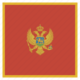 country, flag, montenegro, national icon