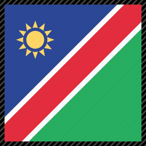 country, flag, namibia, namibian, national icon