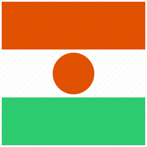 country, flag, national, niger icon