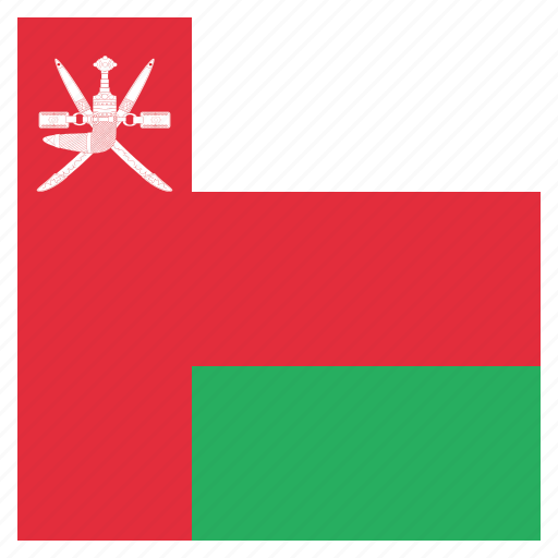 country, flag, national, oman icon