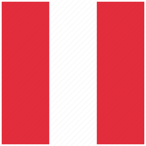 country, flag, national, peru, peruvian icon