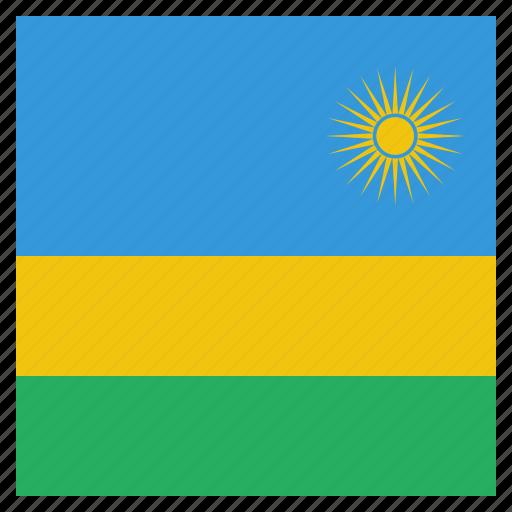 country, flag, national, rwanda icon