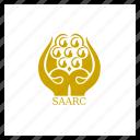 flag, saarc, organisation, world, asian icon