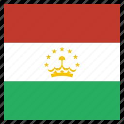 country, flag, national, tajikistan, tajikistani icon