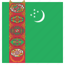 country, flag, national, turkmenistan