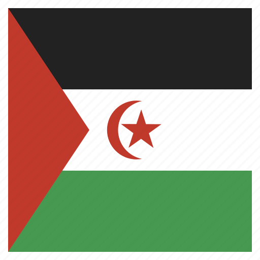 country, flag, national, sahara, western icon