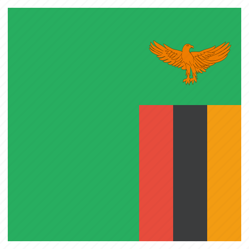 country, flag, national, zambia, zambian icon