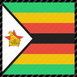 country, flag, national, rhodesia, zimbabwe icon