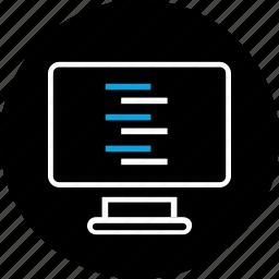 chat, code, conversation, log icon