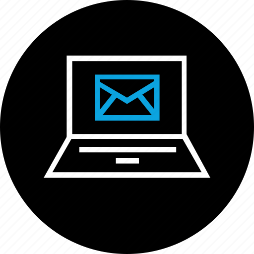 email, laptop, mail, screen icon