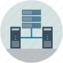 computing, internet connection, network, server, servers icon