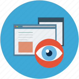internet history, internet supervision, web privacy, window viewer icon