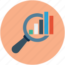 analytics, research, search data, search engine, search stats icon