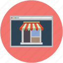ecommerence, online, shop, shopping, store page icon