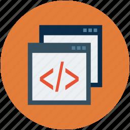code, coding, development, html, program, web programming icon