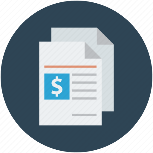 articles, blog, financial report icon