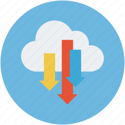backup, cloud download, data, server, sync icon