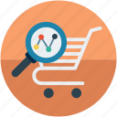 analytics, data, ecommerce, shopping trends icon
