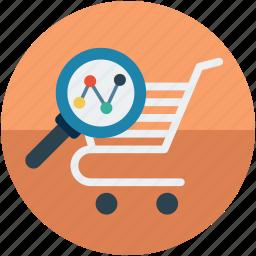 analytics, data, ecommerce, shopping trends icon