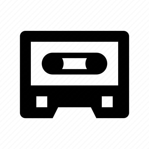audio cassette, audio tape, cassette, cassette tape, compact cassette icon