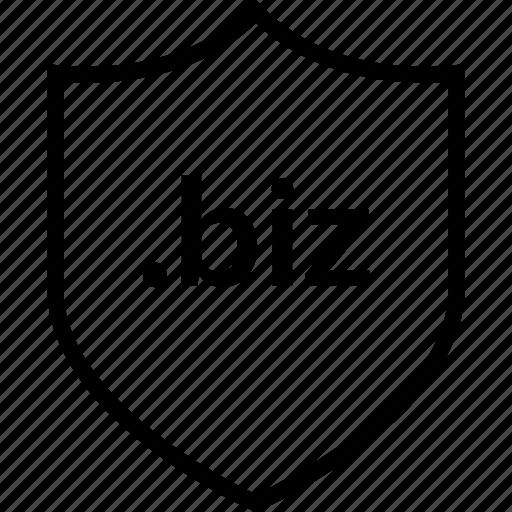 biz, extension, internet, online, shield, web icon