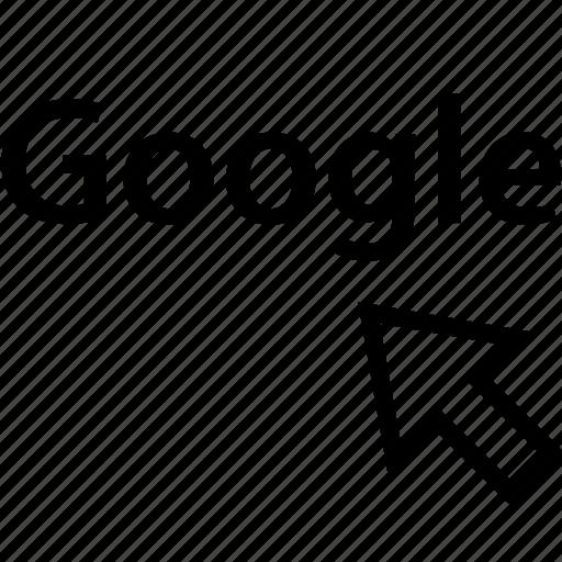 click, google, internet, online, web icon