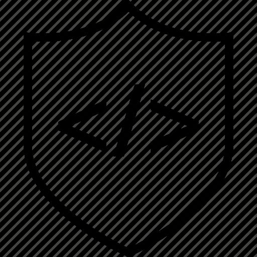 development, internet, online, secured, shield, web icon