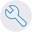 adjustable wrench, settings, tool, wrench, wrench tool icon